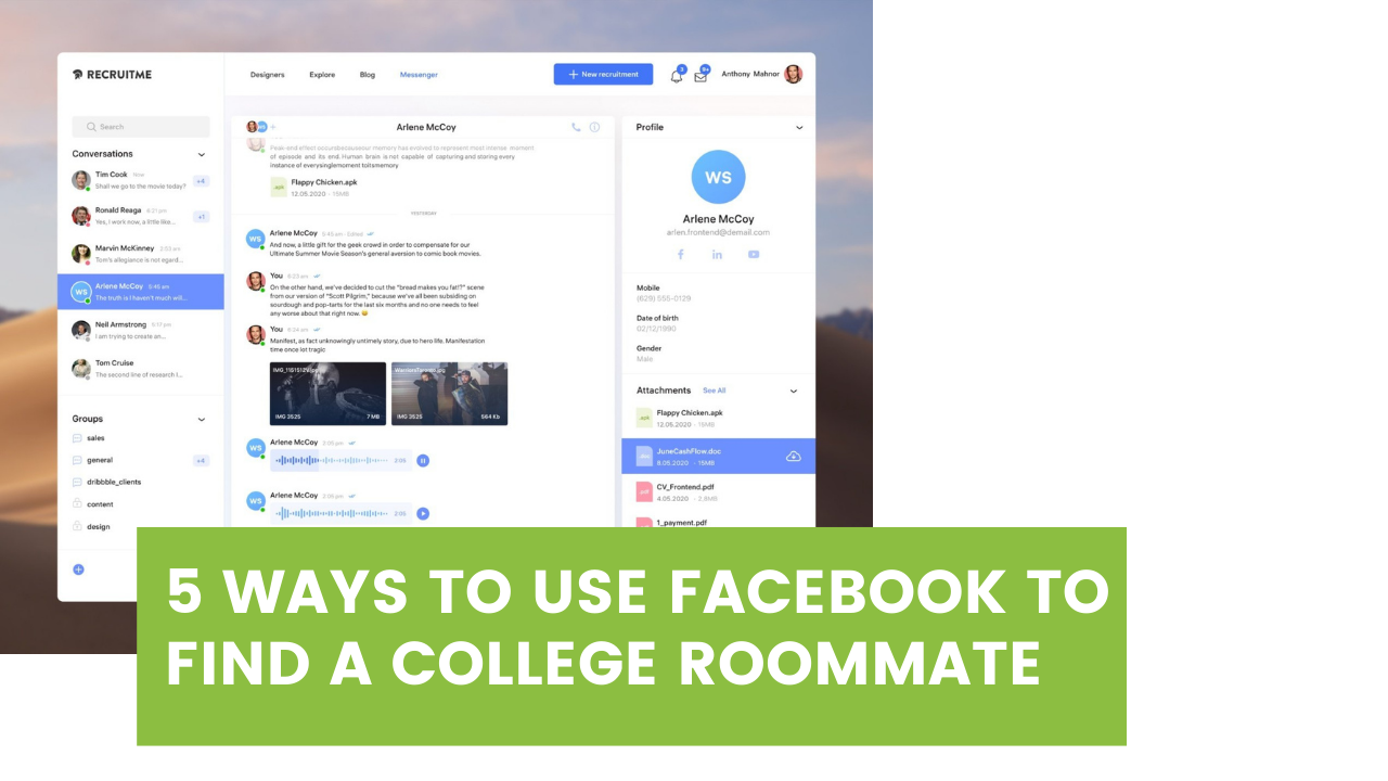 5 Ways to Use Facebook to Find a College Roommate